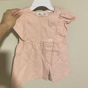 Zara 2-3T toddler pink nude dress